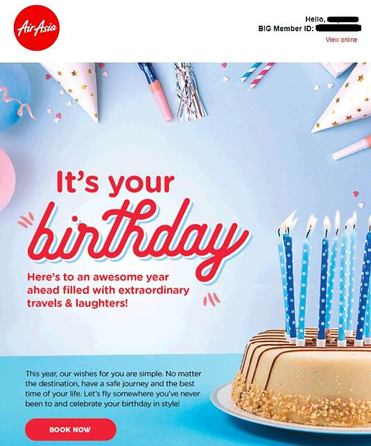 Birthday - AirAsia