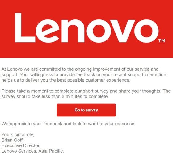 Feedback - Lenovo