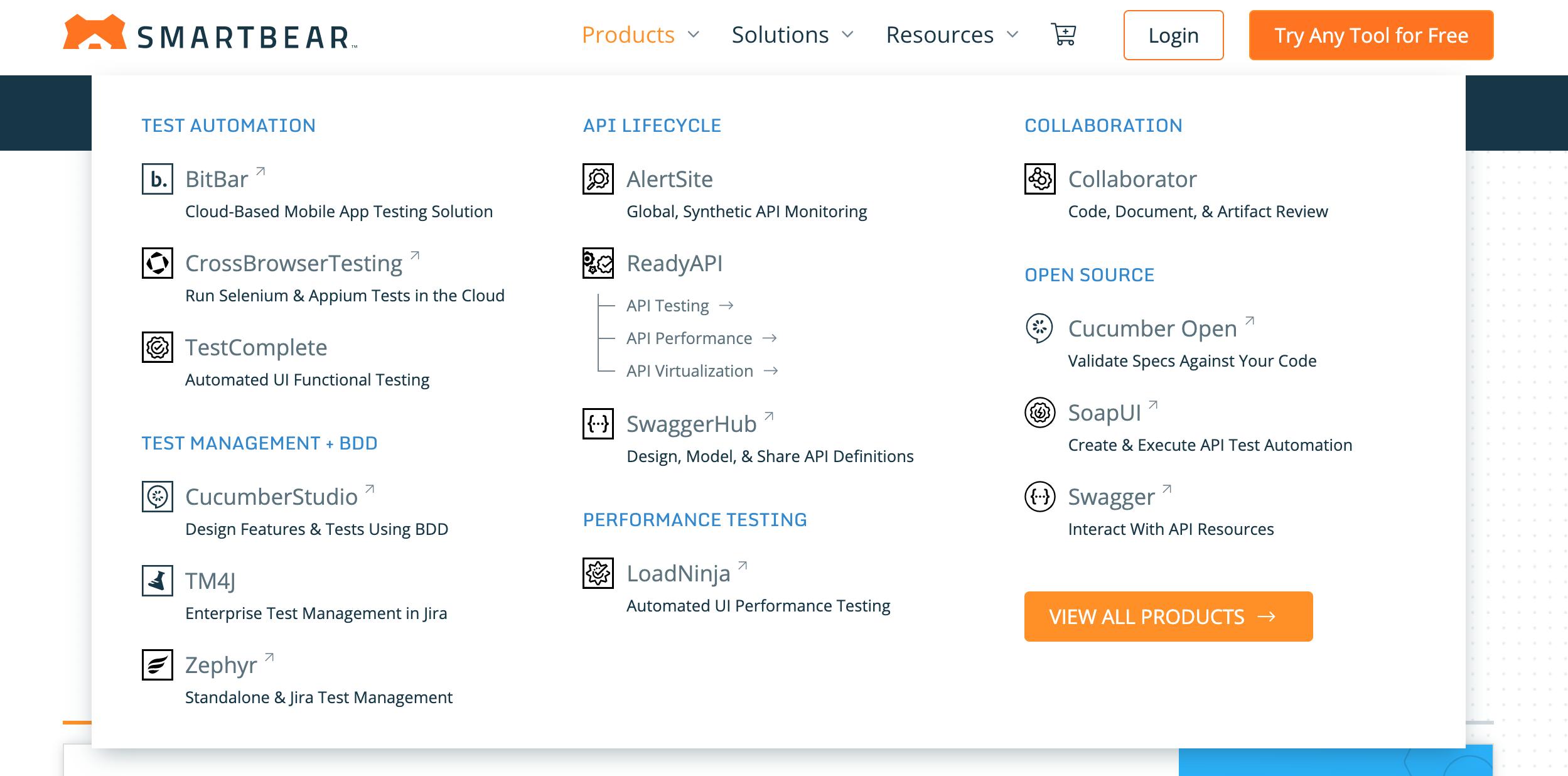 Smartbear product offerings